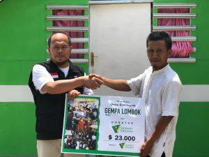Laporan penyaluran Gempa Lombok 0