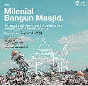 Milenial Wakaf Masjid untuk Palu
