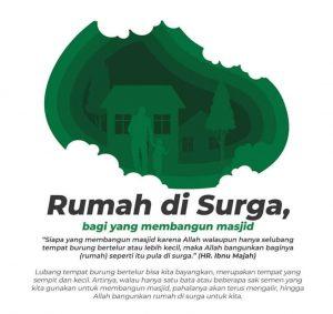 Rumah di Surga, Milenial Bangun Masjid, Wakaf Masjid Palu