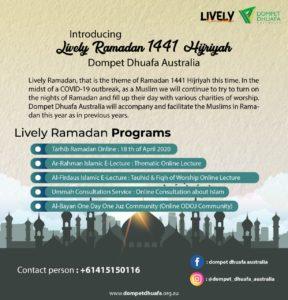 Introducing Lively Ramadan 1441 Hijriyah Dompet Dhuafa Australia