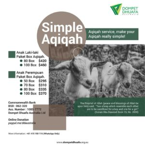 Simple Aqiqah, Make Your Aqiqah Really Simple!