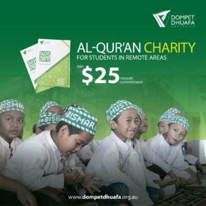 Al-Qur'an Charity for Student in Remote Area